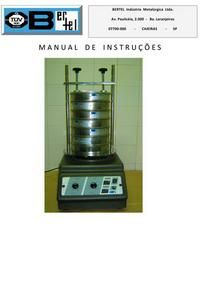 Agitador de peneiras para análise granulométrica