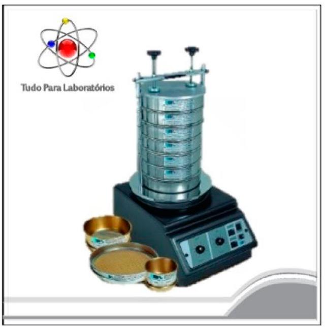 Agitador de peneiras granulométrica